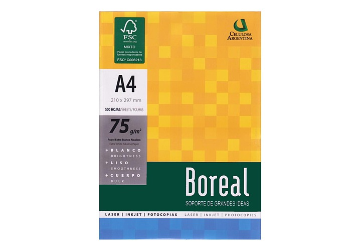 Resma Boreal A4 75 grs x 500 hojas