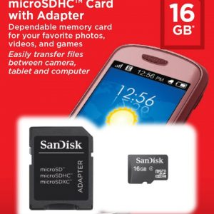 Tarjeta MicroSD Sandisk 16gb