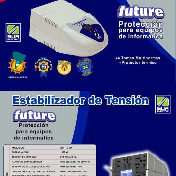 Estabilizador de tensión Surelectric Future ER-1000 (6 tomas)