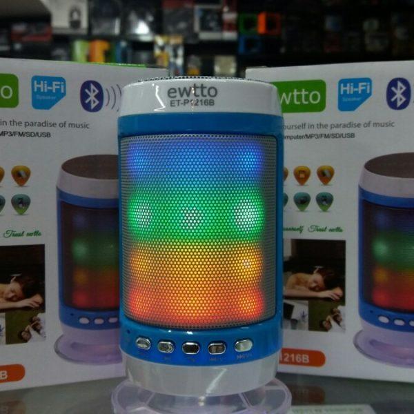 Parlante Portátil Tubo Ewtto ET-P1216B (Usb/SD/FM/Aux y Bluetoth)