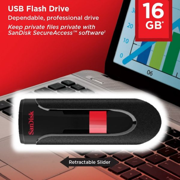 Pendrive SanDisk 16GB Cruzer Glide