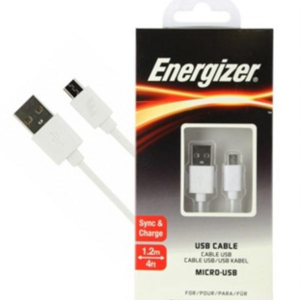 Cable Micro USB a USB Energizer C12UBMCGWH4