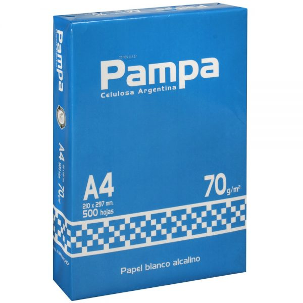 Resma Pampa A4 70 grs x 500 hojas