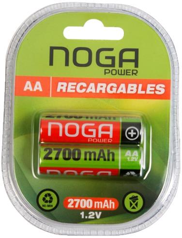 Pilas Recargables AA 2700 mAh Noga (x2)